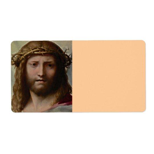 Head of Christ Correggio Label