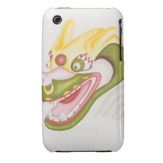 Head of colourful papier-mache dragon, side iPhone 3 cases