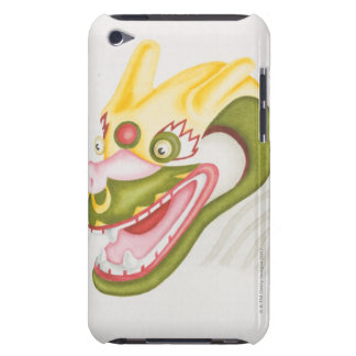 Head of colourful papier-mache dragon, side iPod touch cover