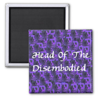 Head Of Disembodied 2 Inch Square Magnet