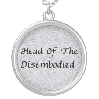 Head Of Disembodied Round Pendant Necklace