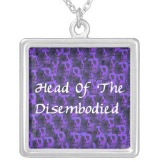 Head Of Disembodied Square Pendant Necklace