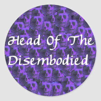 Head Of Disembodied Stickers