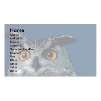 Head of Eagle Owl Business Card