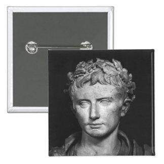 Head of Emperor Augustus 2 Inch Square Button