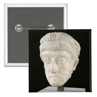 Head of Emperor Theodosius II 2 Inch Square Button