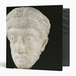 Head of Emperor Theodosius II 3 Ring Binder