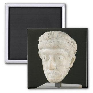 Head of Emperor Theodosius II 2 Inch Square Magnet