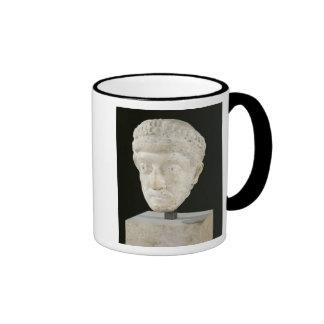 Head of Emperor Theodosius II Ringer Coffee Mug