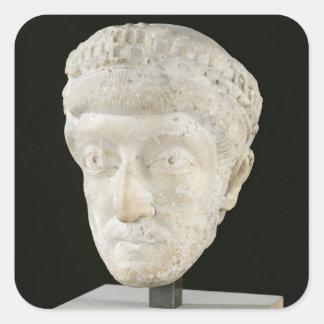Head of Emperor Theodosius II Square Sticker