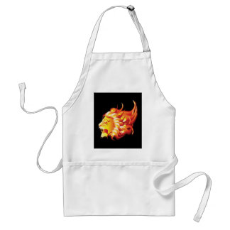 Head of fire lion adult apron