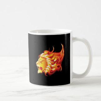 Head of fire lion coffee mug