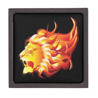 Head of fire lion keepsake box