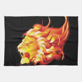 Head of fire lion kitchen towel