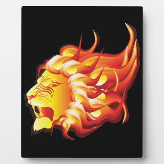 Head of fire lion plaque