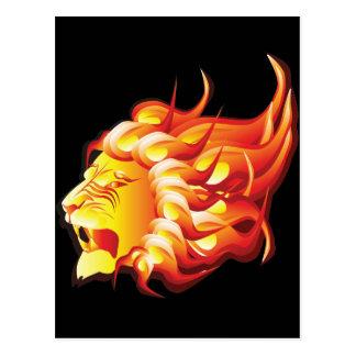 Head of fire lion postcard
