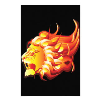 Head of fire lion stationery