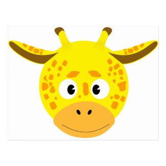 Head of Giraffe Postcard
