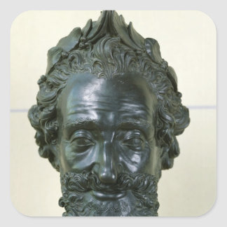 Head of Henri IV  after 1599 Square Sticker
