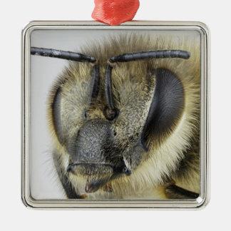 Head of honeybee metal ornament