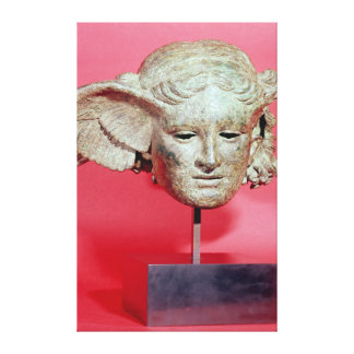 Head of Hypnos copy of a Hellenistic original Gallery Wrapped Canvas