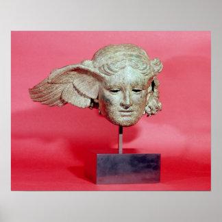 Head of Hypnos, copy of a Hellenistic original Print