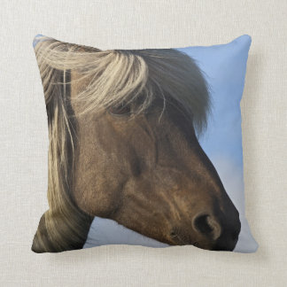 Head of Icelandic horse, Iceland Throw Pillow