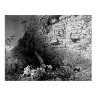 Head of Itzam Na, Izamal, Yucatan, Mexico, 1844 Postcard