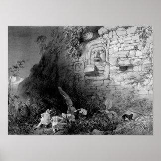 Head of Itzam Na Izamal Yucatan Mexico 1844 Posters