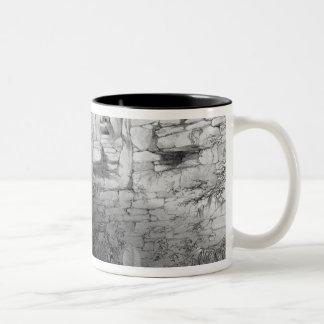 Head of Itzam Na, Izamal, Yucatan, Mexico, 1844 Two-Tone Coffee Mug