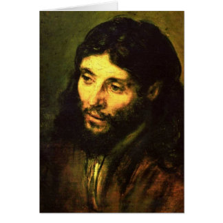 Head of Jesus By Rembrandt Card