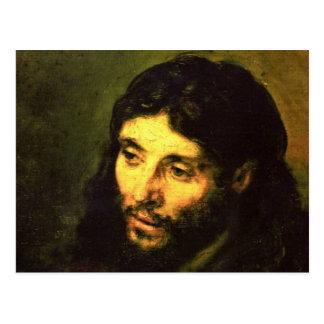 Head of Jesus By Rembrandt Postcard