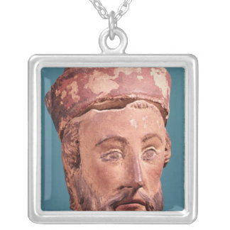 Head of Joseph of Arimathaea Silver Plated Necklace