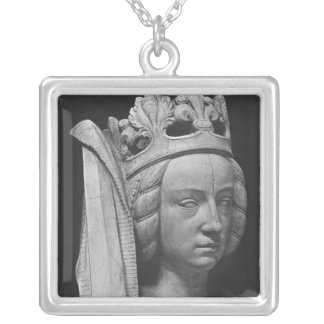 Head of Justice Silver Plated Necklace