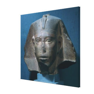 Head of King Djedefre, from Abu Roash, Old Canvas Print