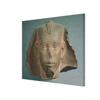 Head of King Djedefre, from Abu Roash, Old Kingdom Canvas Print