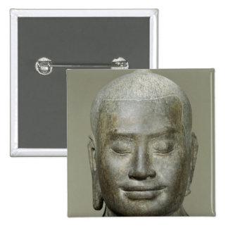 Head of King Jayavarman VII Pinback Button