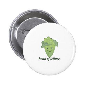 Head of Lettuce Pinback Button
