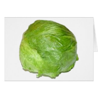 Head of Lettuce Card