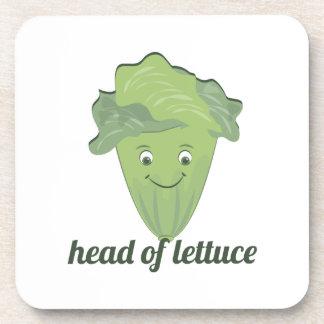 Head of Lettuce Beverage Coasters