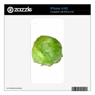 Head of Lettuce Decals For iPhone 4S