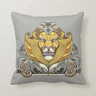 head of lion throw pillow