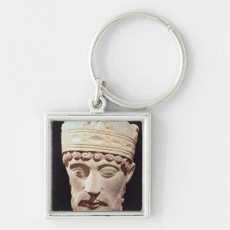 Head of Lothair I Key Chain