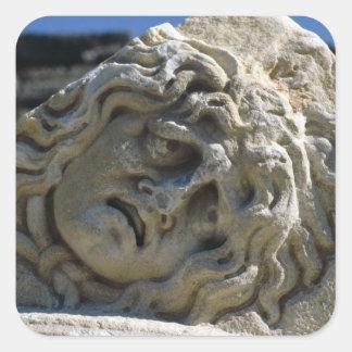Head of Medusa Square Sticker