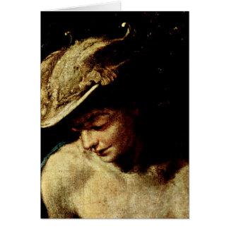 Head Of Mercury By Antonio Allegri Da Correggio Card