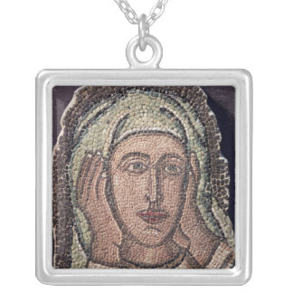Head of one of the Holy Women, from Turkey Silver Plated Necklace
