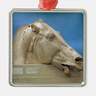 Head of one of the horses of Selene Metal Ornament