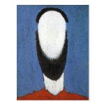 Head of Peasant by Kazimir Malevich Postcard
