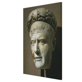 Head of Philip the Arab, Roman Emperor (244-249) ( Canvas Print