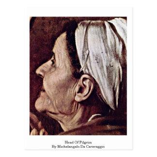 Head Of Pilgrim By Michelangelo Da Caravaggio Postcard